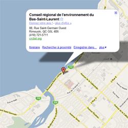 Consultez « Google Map »